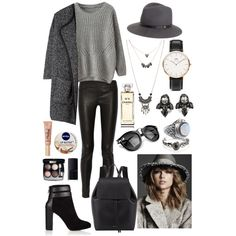 A fashion look from January 2015 featuring Helmut Lang leggings, Coye Nokes ankle booties and Mansur Gavriel backpacks. Browse and shop related looks. #grays #grayongray