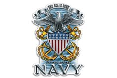 U.S. Navy The Sea Is Ours Full Print Eagle Reflective Decal from Mustang Loot