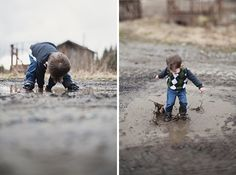 Capturing little boys right in their element <3