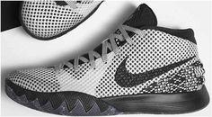 6e433c8c44a4 Nike Kyrie 1 Wholesale BHM White Black Dark Grey Nike Shoes For Sale