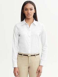 aee62f16b Tall non-iron fitted sateen shirt - Introducing our new Non-iron Shirt  Collection