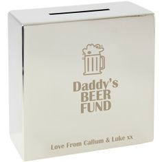Personalised Beer Silver Money Box  from Personalised Gifts Shop - ONLY £19.99