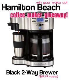MamaNYC's Hamilton Beach Coffee Maker Giveaway: Black 2-Way Brewer ($89.99 value)*