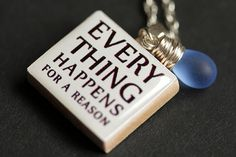 Everything Happens For A Reason Necklace. Quote Necklace. Fate Necklace. Scrabble Tile Necklace. Scrabble Pendant. Handmade Necklace. by StumblingOnSainthood from Stumbling On Sainthood. Find it now at http://ift.tt/2hXT2vB!