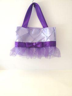 Lavender Satin Tutu Purse - Toddler Tote Bag - Girls Activity Bag on Etsy, $18.00