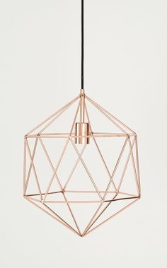 Rose Gold Light Fixture
