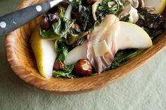 Secret Recipe Club: Roasted Spring Greens Salad with Hazelnuts and Pecorino - Crumb: A Food Blog