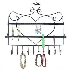 1059 Just Solutions HangIt Jewelry Organizer Black Just