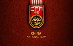 Download wallpapers China national football team, 4k, leather texture, Chinese Football Association, emblem, logo, asia, football, China