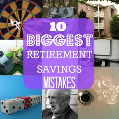 The 10 Biggest Retirement Savings Mistakes-how to add income: investment w. dividend; buy rental property