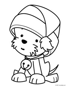 *Christmas-Puppy-Coloring-Pages