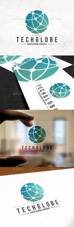 Tech Globe Logo Template - Abstract Logo Templates