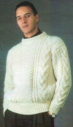 Белый свитер для мужчины