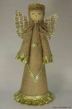 Christmas Crafts To Make And Sell, Handmade Christmas Decorations, Xmas Crafts, Homemade Christmas, Diy And Crafts, Christmas Angels, Christmas Fun, Christmas Ornaments, Angel Crafts