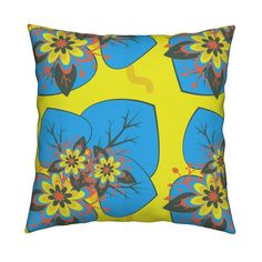 Shop unique pillows, tea towels, cloth napkins, and more designed by independent artists from around the world. Throw Cushions, Custom Fabric, Spoonflower, Bright, Wallpaper, Shop, Design, Home Decor, Decoration Home
