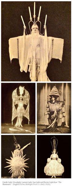 vintage avant garde costume fashion The Illuminants, Ziegfeld Follies Midnight Frolic; Cabaret, Vintage Burlesque, Vintage Circus, Vintage Beauty, Vintage Fashion, Gothic Fashion, Edwardian Fashion, Steampunk Fashion, Folies Bergeres