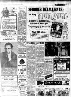 Frescavena de Quaker. Publicado el 17 de septiembre de 1953.