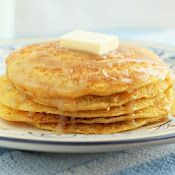 Cornbread Pancakes with Honey Butter Syrup ~ Y'all have NO IDEA how good these are...y'all are just gonna have to try them and see!
