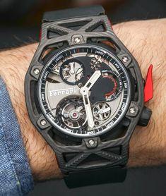 Hublot Techframe Ferrari 70 Years Tourbillon Chronograph Watch Hands-On Big Watches, Casual Watches, Sport Watches, Cool Watches, Watches For Men, Ferrari Watch, Automatic Watch, Chronograph, Hands