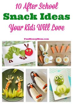 Surprise your kids when they come home with these super cute after school snack ideas!