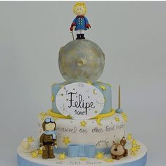 Le Petit Prince Prince Birthday Party, 2nd Birthday Parties, Baby Birthday, Birthday Party Decorations, Little Prince Party, The Little Prince, Prince Cake, Baby Boy Cakes, Baby Shower
