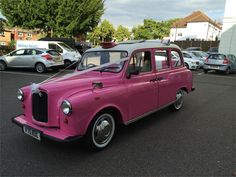 Get to the church on time and in style with our round up of 25 unusual wedding car ideas - from vintage car ideas to unique methods of transport Wedding Car Decorations, Wedding Cars, Dream Wedding, Wedding Transportation, Wedding Color Schemes, Travel Style, Vintage Pink, Wedding Planning, Taxi
