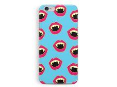 Vampire iphone 6 case, Lips iphone case, gothic phone case, emo iphone 6 case, Fangs iPhone case, True Blood phone case, Zombie iPhone case