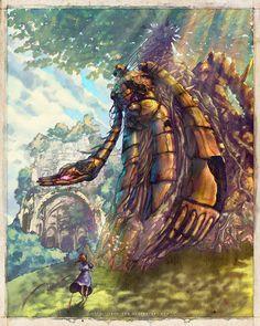 "Yaphleen's Studio Ghibli Tribute Illustrations: ""Welcome Back To Laputa"" - Castle In The Sky."