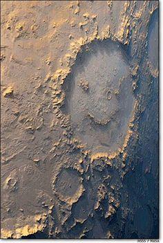 Happy Face Crater - Mars #Happy