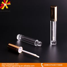 high quality AS aluminum lip gloss bottle italian cosmetic brands lip gloss bottle