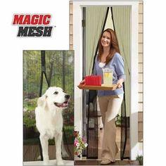 Mıknatıslı Kapı Sinekliği Magic Mesh (Siyah)