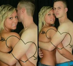 Couples tattoos. Freaking crazy people.