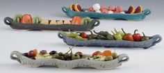 An olive tray is never just an olive boat! It's a relish tray! A pickle dish! A fruit and berry boat! A Twizzler boat! The possibilities go on. Perfect…