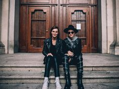 designerleather: Phoebe Dahl and Ruby Rose - Models Off Duty Street Style