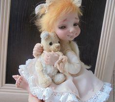 Купить Маленький Ангел - кукла ручной работы, кукла в подарок, кукла интерьерная