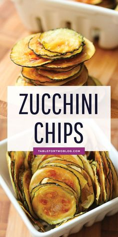 These Zucchini Chips are easy to make and are thin, crispy, and irresistible! #zucchinichips #zucchini #zucchinirecipes