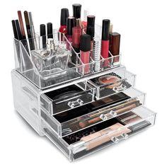 Sorbus Stackable Makeup Storage Set - Style