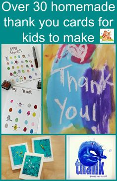 Over 30 homemade thank you cards for kids to make from Mum in the Mad House