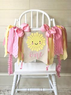 You Are My Sunshine High Chair Banner Sunshine Birthday Parties, First Birthday Party Themes, First Birthday Banners, Baby Girl 1st Birthday, Farm Birthday, Birthday Ideas, Birthday Cake, Festa Party, High Chair Banner