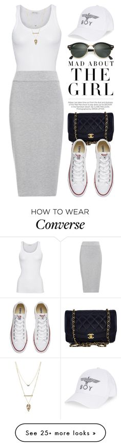 Casual Converse 2966 by boxthoughts on Polyvore featuring American Vintage, BLQ BASIQ, Chanel, Converse, BOY London, Ray-Ban, Kershaw and Charlotte Russe