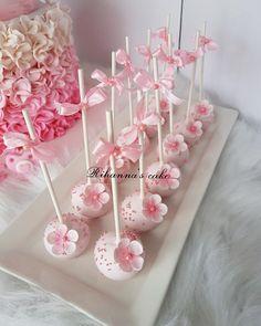 # cakepops # cakepopstagram # pink # baby show … – Cake Pops – Cherry Blossom Fiesta, Cherry Blossom Theme, Cherry Blossom Wedding, Cupcakes Para Baby Shower, Baby Shower Cake Pops, Baby Shower Desserts, Baby Shower Kuchen, Backen Baby, Pop Baby Showers