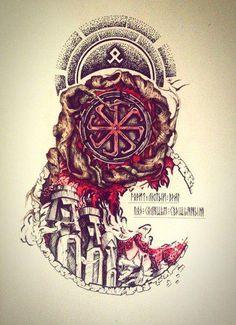 Norse Mythology Tattoo, Slavic Tattoo, Pagan Tattoo, Norse Tattoo, Viking Tattoos, Basic Tattoos, Body Art Tattoos, Sleeve Tattoos, Rune Symbols