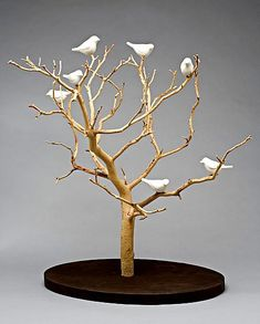 Birds in Trees Small by Chris Stiles (Ceramic & Wood Wall Art) Birds in Trees Tabletop The post Birds in Trees Small by Chris Stiles (Ceramic & Wood Wall Art) appeared first on Wood Ideas. Decoration Branches, Tree Branch Decor, Branch Art, Tree Branch Crafts, Paper Mache Sculpture, Tree Sculpture, Manzanita Branches, Tree Branches, Manzanita Centerpiece
