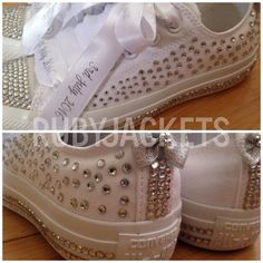 NEW Full Blinged Crystal Encrusted Bridal Converse by RubyJackets