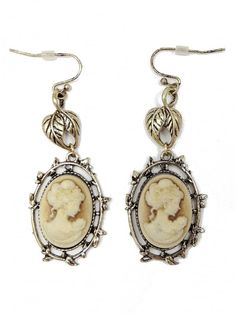 Antique Gold Cameo Earrings - $14.00 : FashionCupcake, Designer Clothing, Accessories, and Gifts