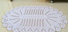 Tapete oval em crochê com aplicação de flores – Passo a passo (2ª Parte)