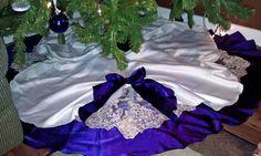My wedding dress amp wedding party dress into christmas tree skirt