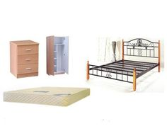 HD P001 BEDROOM PACKAGE - DOUBLE BED WITH MATTRESS HTDLFBED376