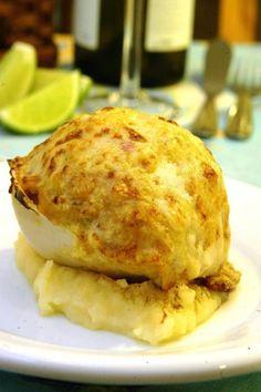 Aprenda a fazer uma deliciosa casquinha de bacalhau na cestinha de parmesão
