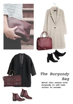 #Vernez #editorial #collage. #Fashion, #inspiration, #style, #outfit, #burgundy, #coat, #bag, #handbag, #boot